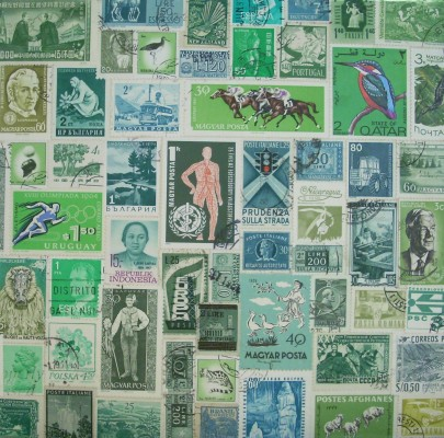 world stamps pictures - green stamp