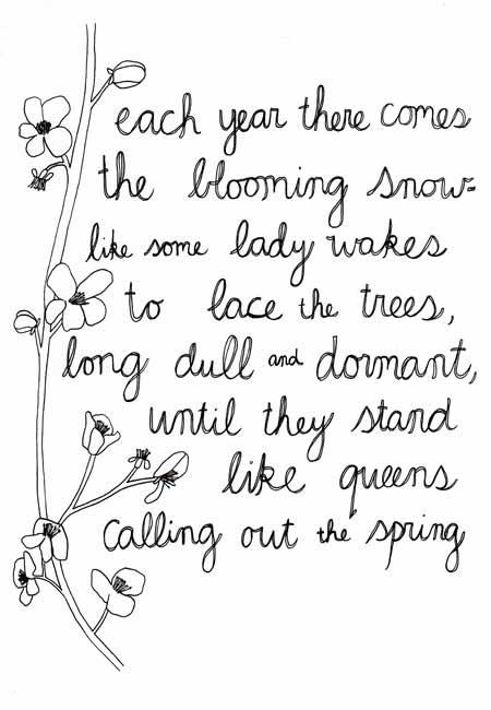 bloomingsnow