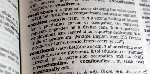 vocation definition oxford english dictionary